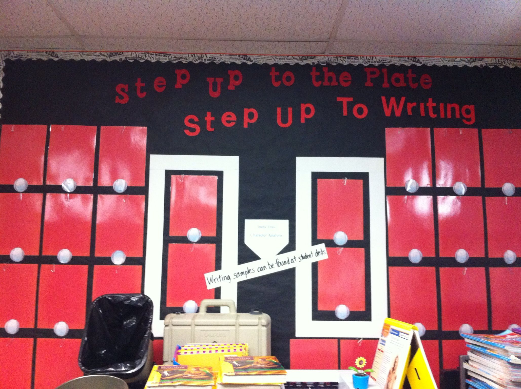 Baseball Bulletin Board Step Up To The Plate Step Up To