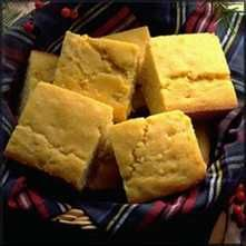Quick Cornbread.  Pretty good.  Moist.   Would add another tbsp of sugar or so.