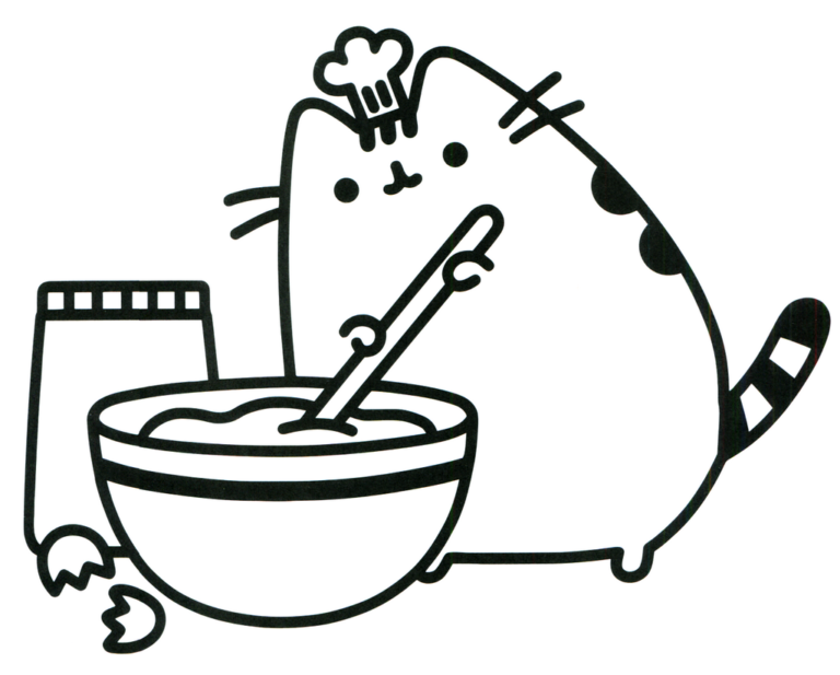 Best Pusheen Coloring Picture For Children Cute Coloring Pages, Unicorn  Coloring Pages, Cat Coloring Page