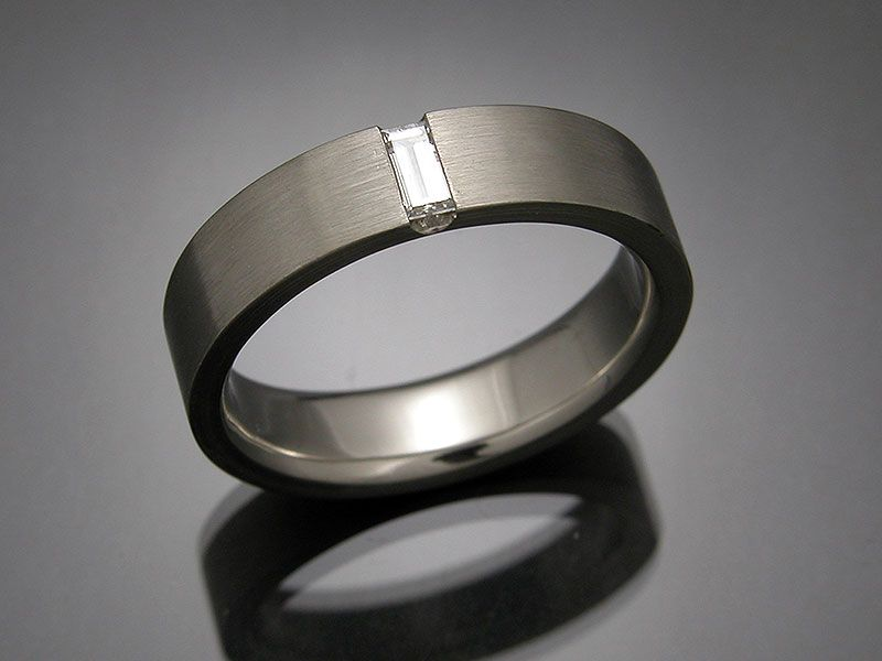 mens custom white gold platinum wedding rings mona lisa jewelers - Wedding Rings For Guys