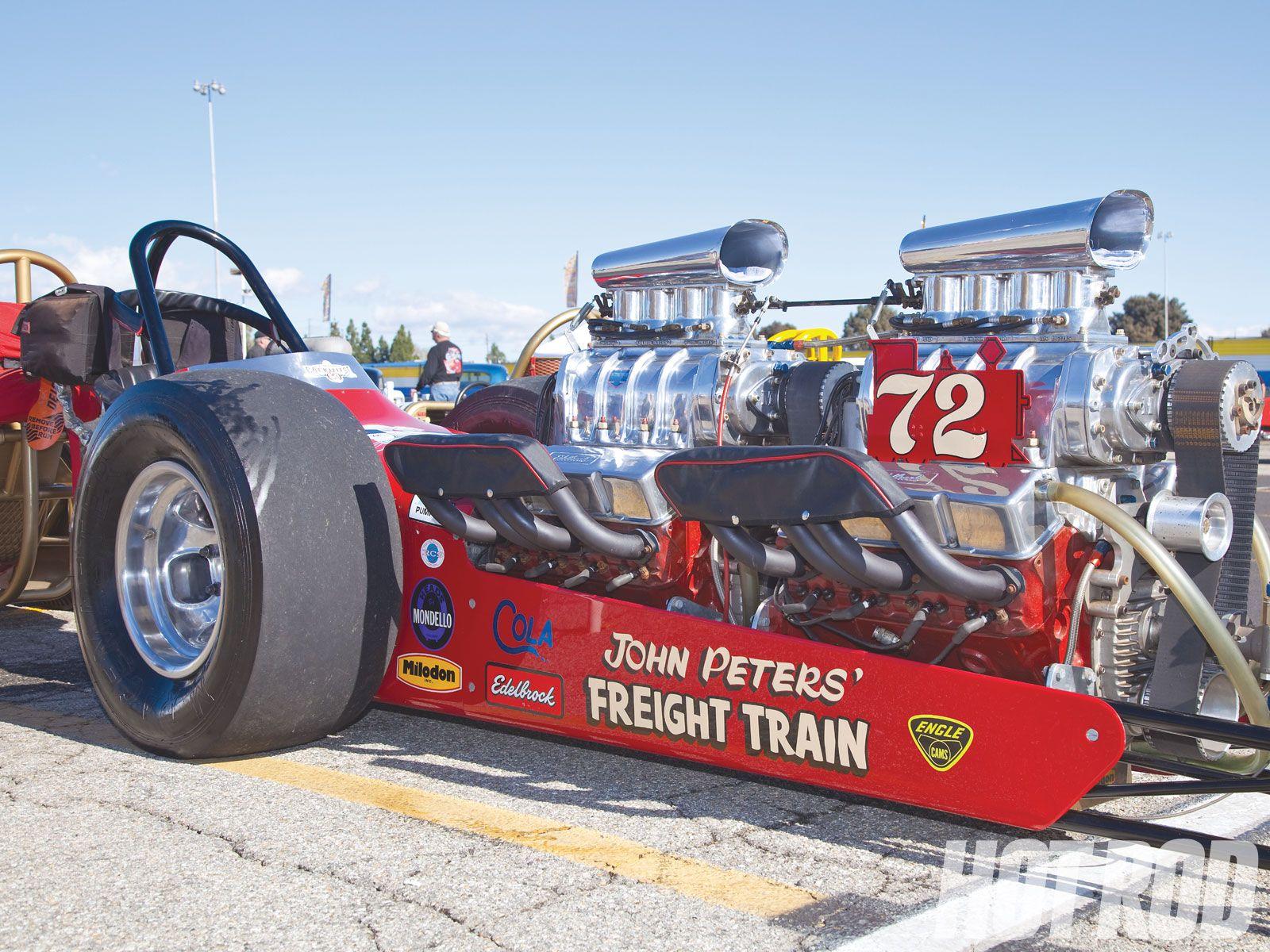 hight resolution of freight train twin engine top fuel