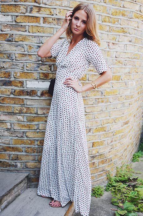 Tea bags maxi dress