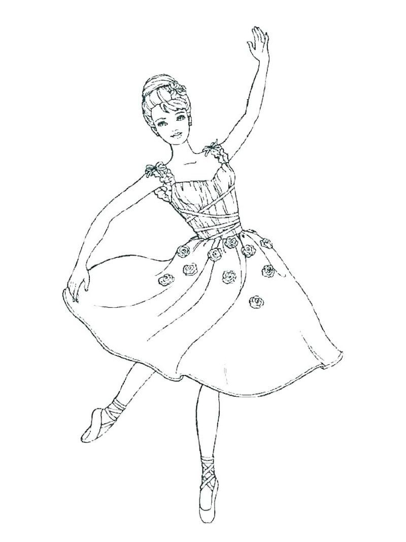 Coloring Pages Printable Ballerina Tips