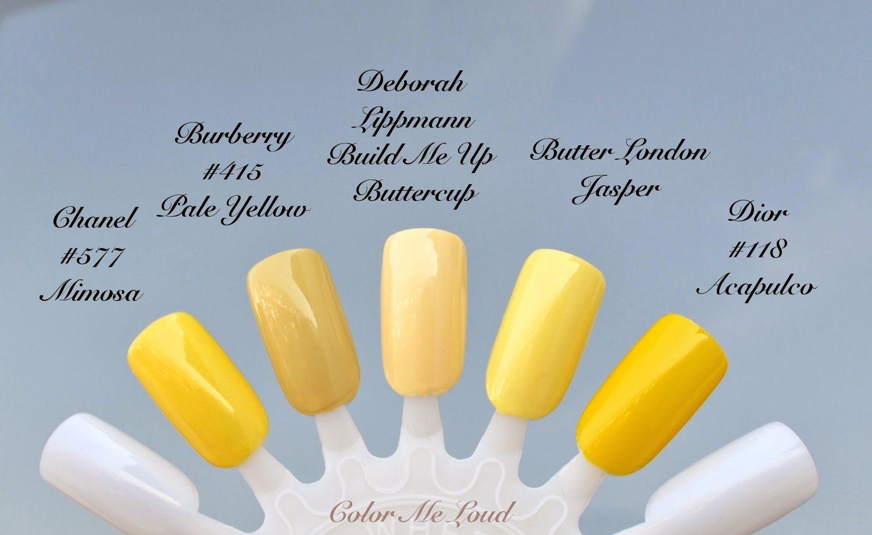 Color Me Loud Nail Polish In 2019 Butter Nail Polish Pale Nails Yellow Nail Polish