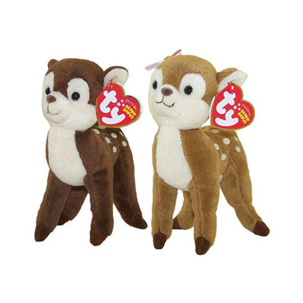 c36ac3a1e75 TY Beanie Babies HONEY NUTMEG the Deer (Set of 2) (6 inch) ( 12) ❤ liked on  Polyvore featuring toys