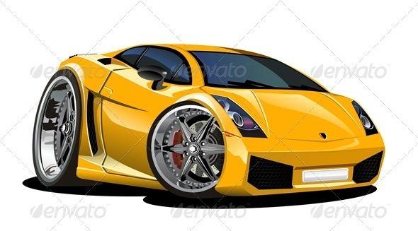 Vector Cartoon Sport Car Truck Detailing Sports Cars And Vector - Cool car cartoon