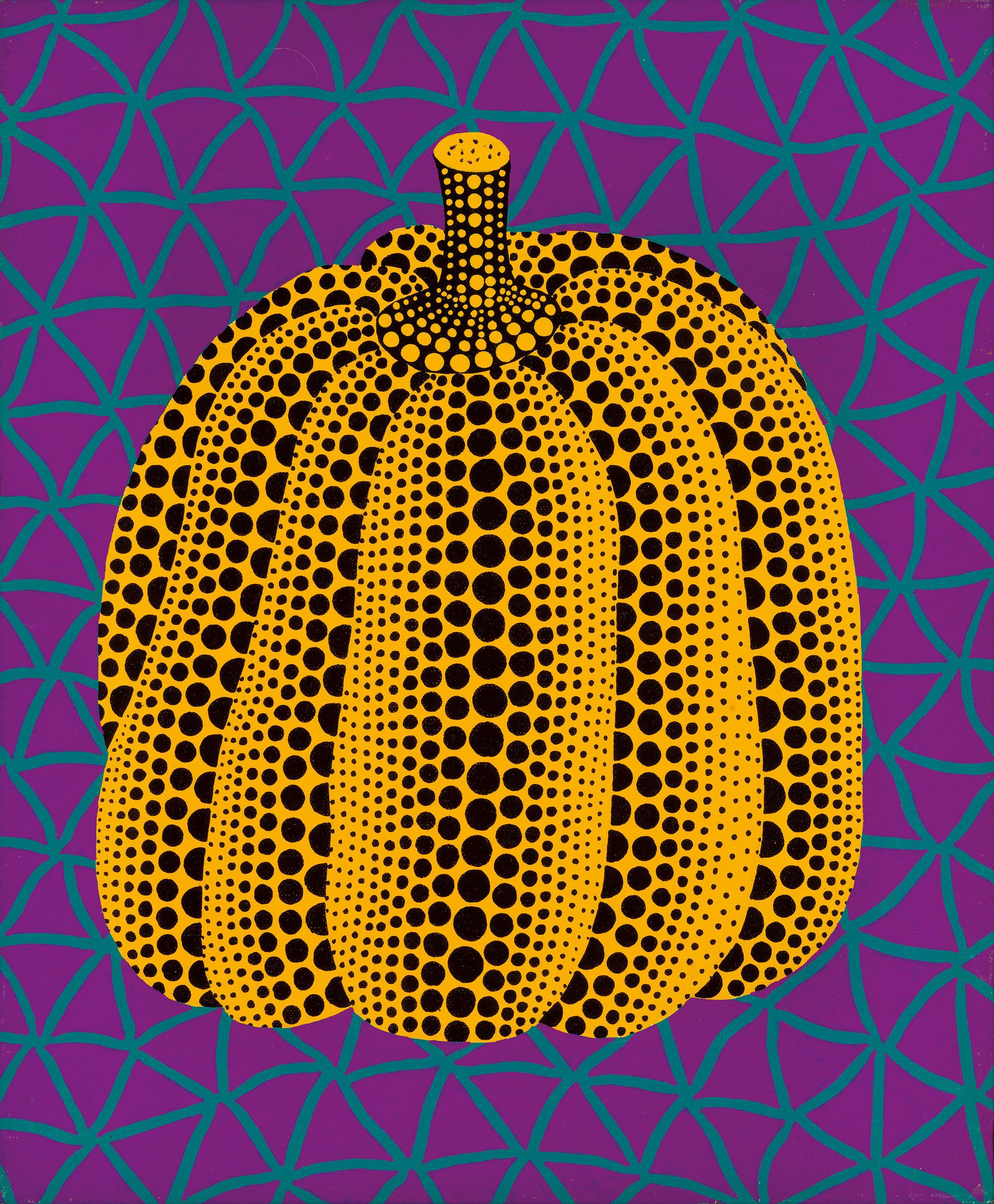 YAYOI KUSAMA (JAPAN, B. 1929) Midnight Pumpkin 1980s