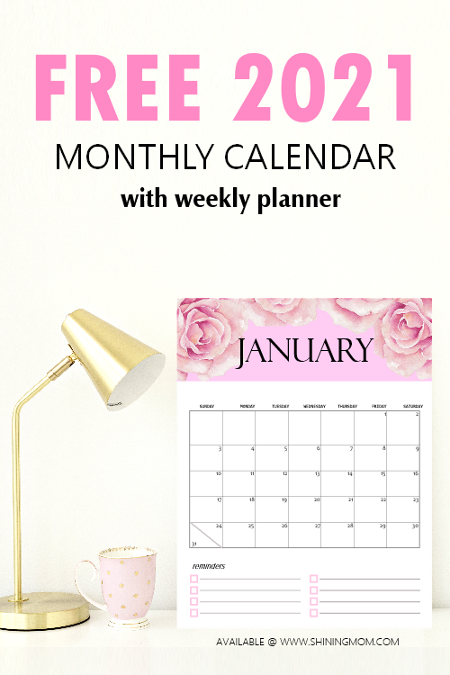 FREE Calendar 2021 Printable: 12 Cute Monthly Designs to ...