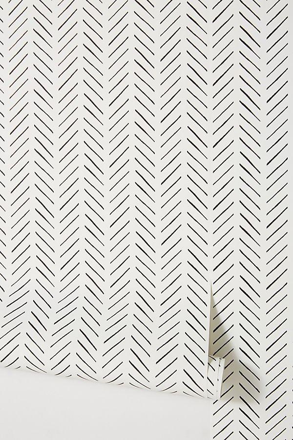 Papier Peint Magnolia Home Pick Up Sticks Par En Noir Decoration Murale Chez Anthropologie Magnolia Homes Home Wallpaper Farmhouse Wallpaper