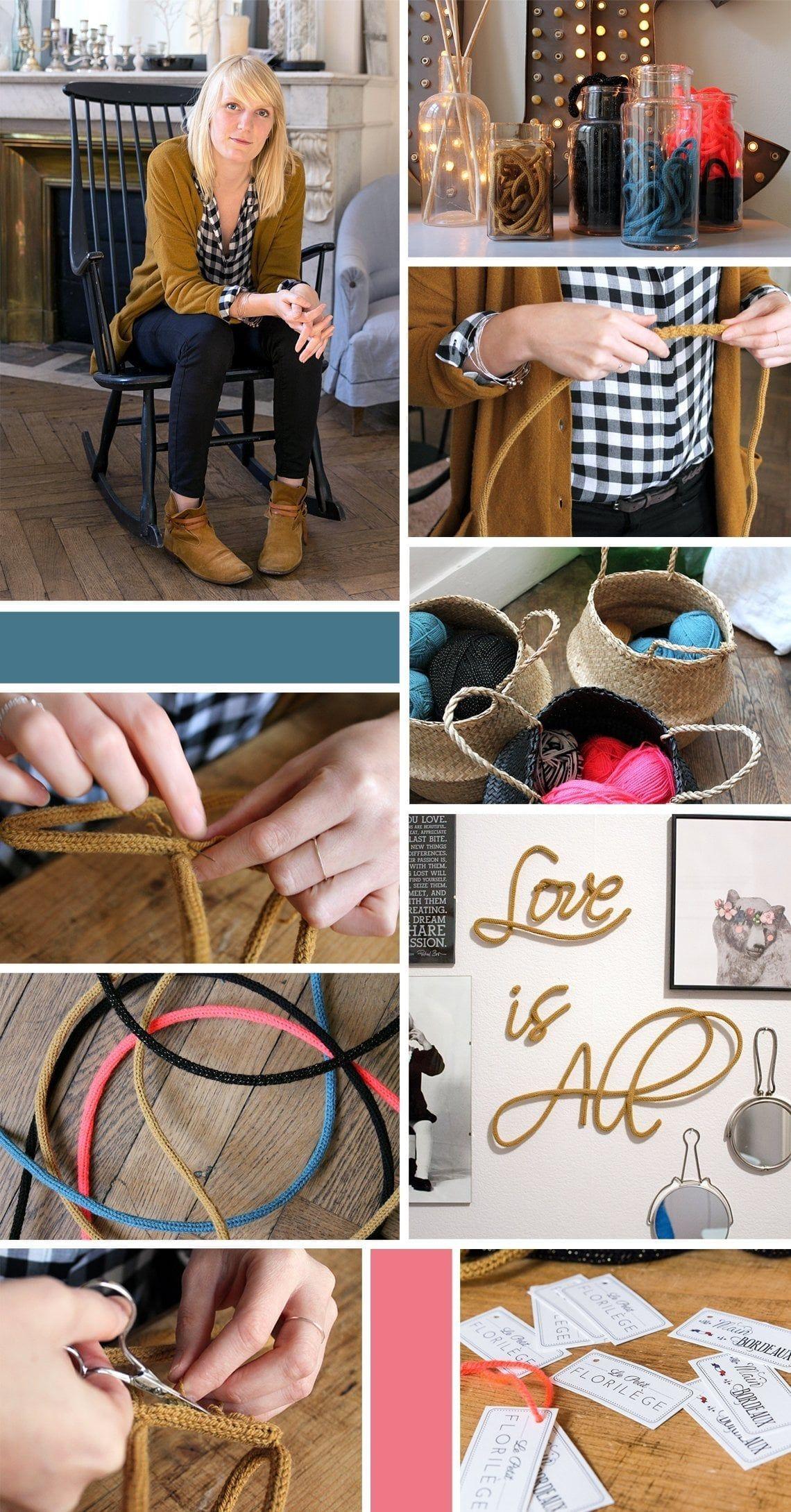 le petit floril ge propose des mots en laine pour une maison remplie de po sie et d 39 amour. Black Bedroom Furniture Sets. Home Design Ideas