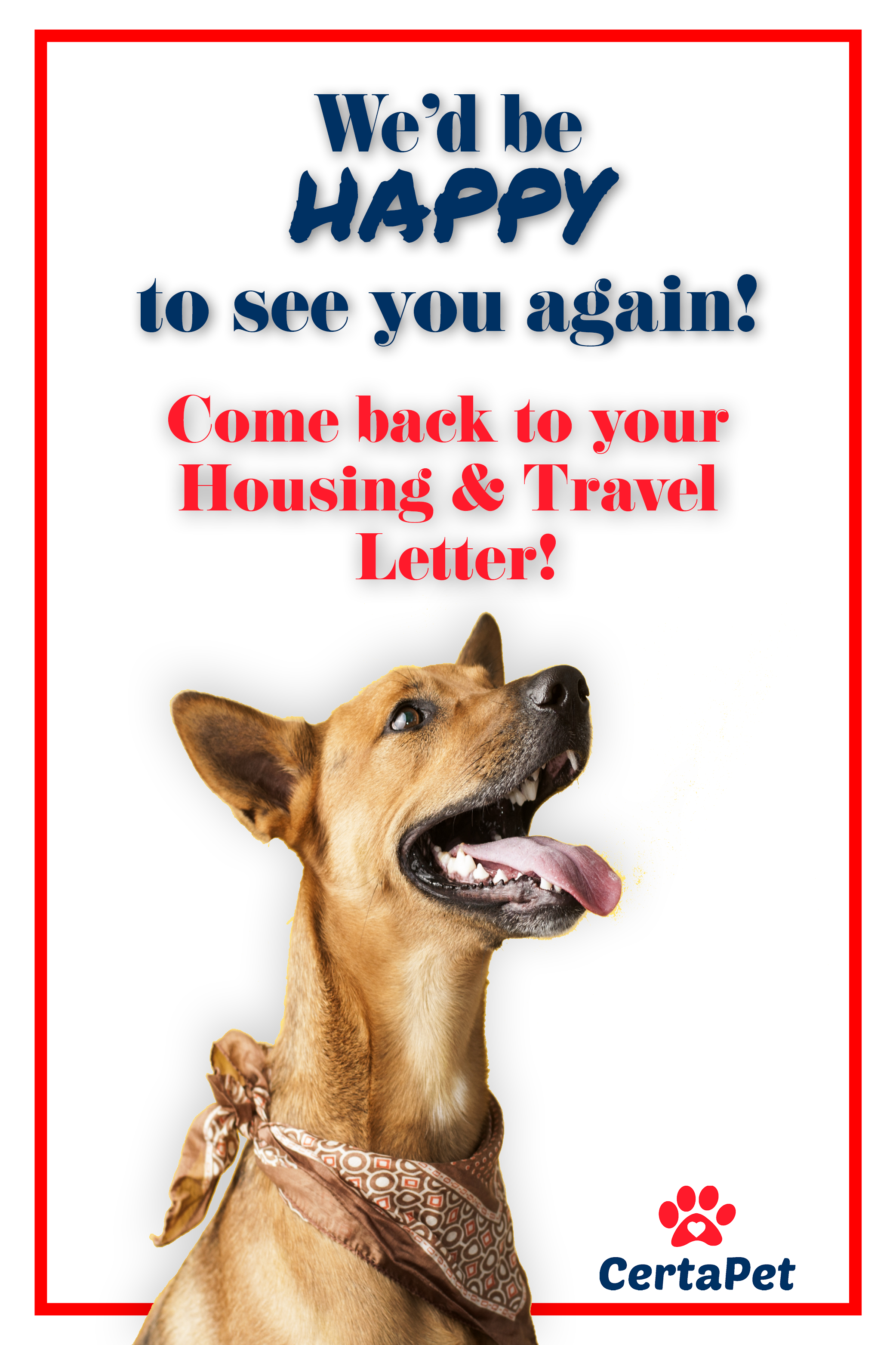 Hey There! Your Housing and Travel ESA Letter is waiting
