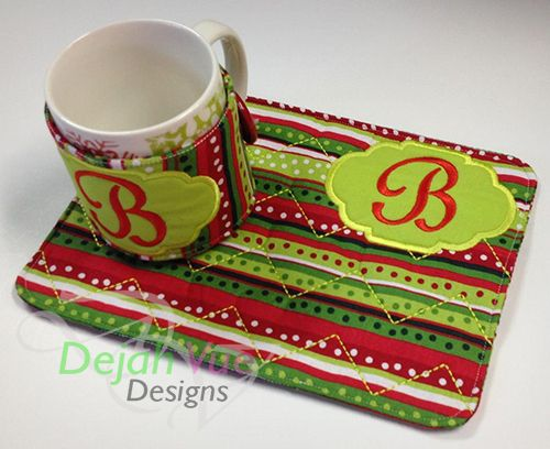 Mug Rug & Wrap Set ITH Embroidery Designs | Embroidery Designs ...