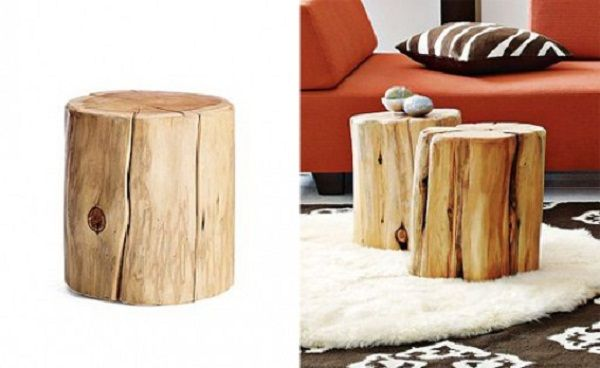 Natural Tree Stump Side Table   Better Living Through Design