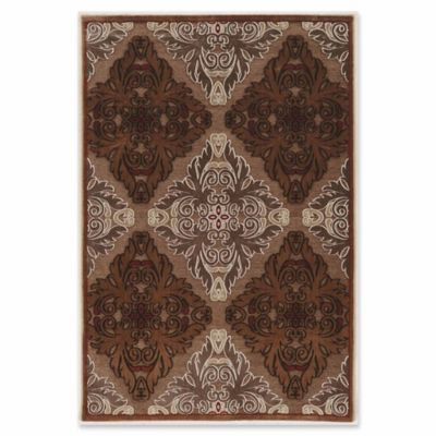 Linon Home Plateau Medallion Power Loomed 8 X 10 3 Area Rug In