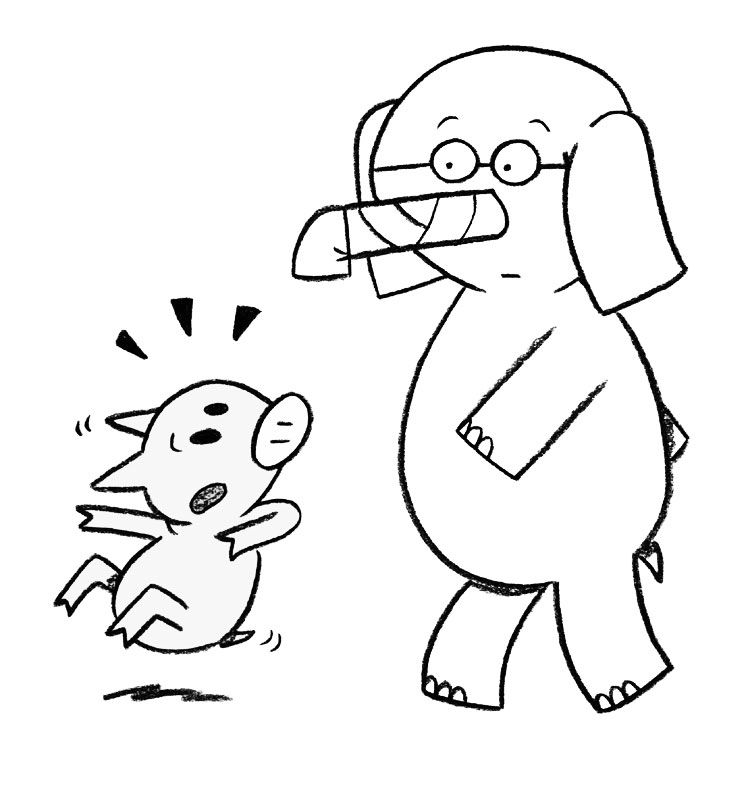 Elephant And Piggie Coloring Page Coloring Pages Kids Book Club Piggie And Elephant