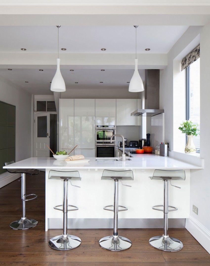 white kitchen bar