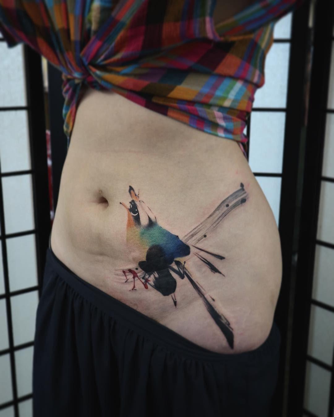 Anki suen bird tattoo with images tatt tattoos leaf