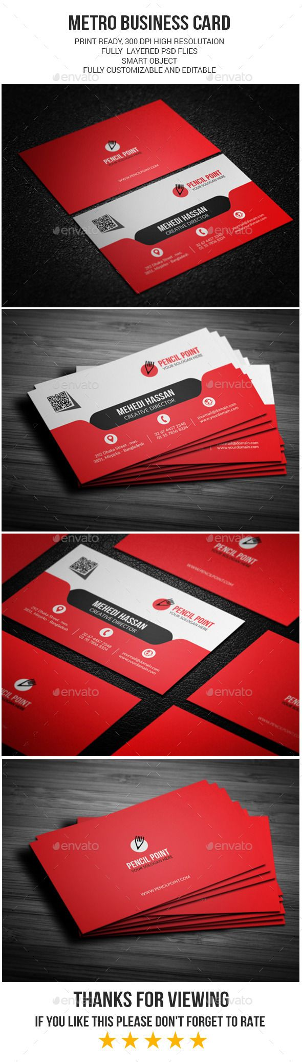 Metro Business Card | Business cards, Photography business cards and ...