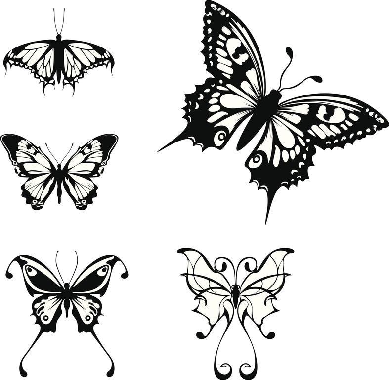 Dibujos de mariposas para tatuajes  Mariposas para tatuajes