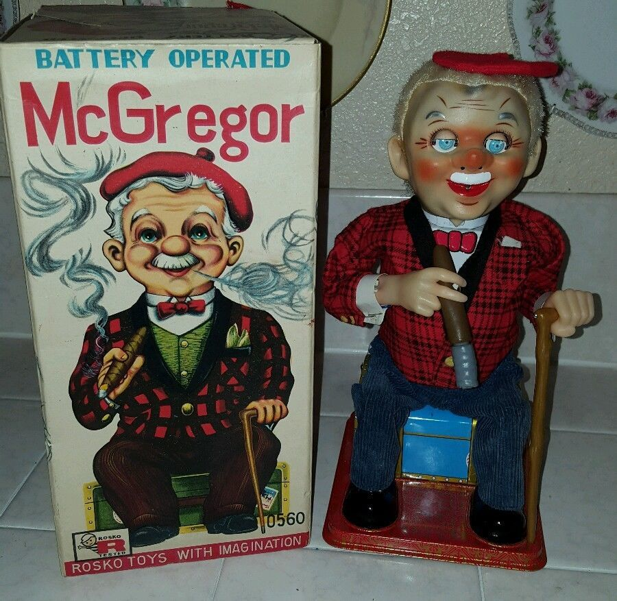 Alle Artikel in Elektrisches Spielzeug McGregor Battery Operated Toy by Rosko in the Box WORKS!