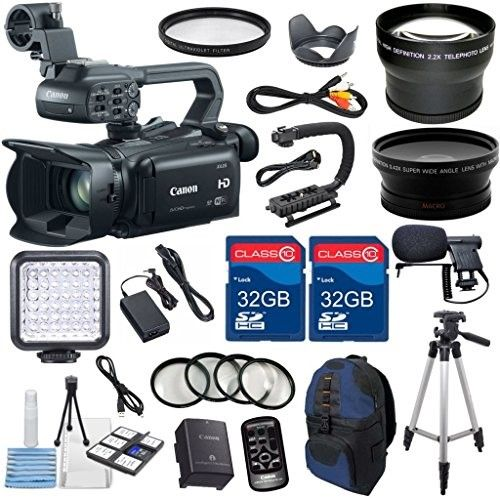 Canon Xa25 Professional Camcorder With 2pc 32gb High Speed Memory Cards Wideangle Lens Telephoto Lens Led Light 4pc Macro Close Up Filters Accessory Bundle Camcorder Close Up Filter Video Camera