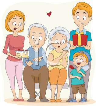 Grandparents Day Clipart Gifts For Grandma And Grandpa Grandparents Day Family Picture Drawing Happy Grandparents Day