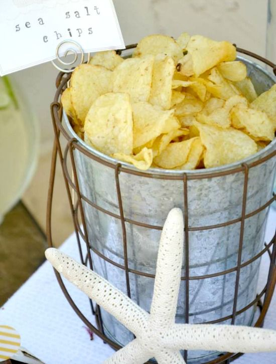 sea salt chips bucket