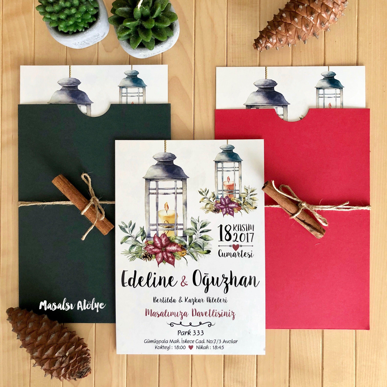 Davetiye / Masalsı Atölye | Davetiye / Wedding invitation ...