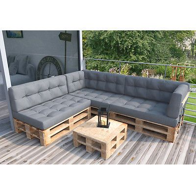 palettenkissen palettensofa palettenpolster kissen sofa polster anthrazit grau eka s garten. Black Bedroom Furniture Sets. Home Design Ideas