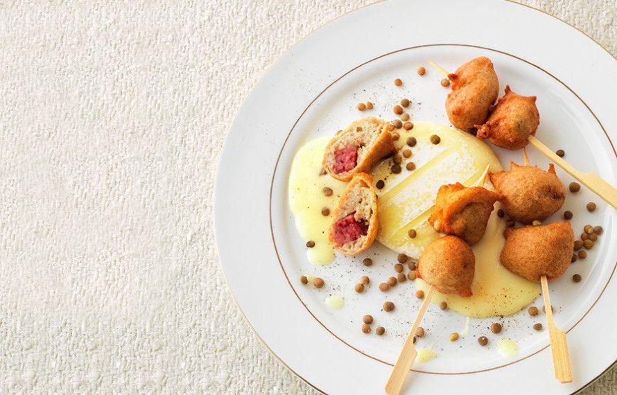 Ricette Cucina Italiana.Spiedini Di Frittelle Con Tomini