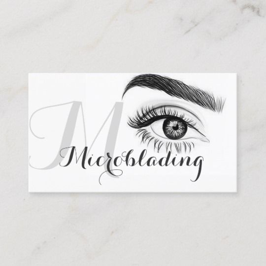 Microblading Eyebrows Tattoo Permanent Makeup Business Card In