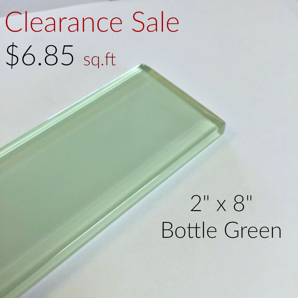 2 X 8 Bottle Green Glass Subway Series Clearance 685 Sqft