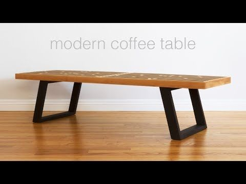631efabf616 Build A Mid Century Modern Coffee Table   Nelson Bench - Woodworking -  YouTube
