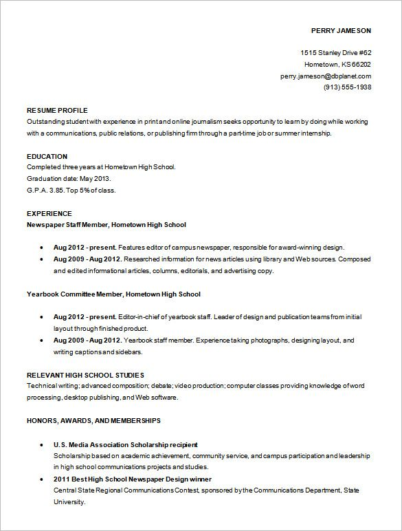 resume templates free word excel pdf psd format download basic high - Copy Editor Resume