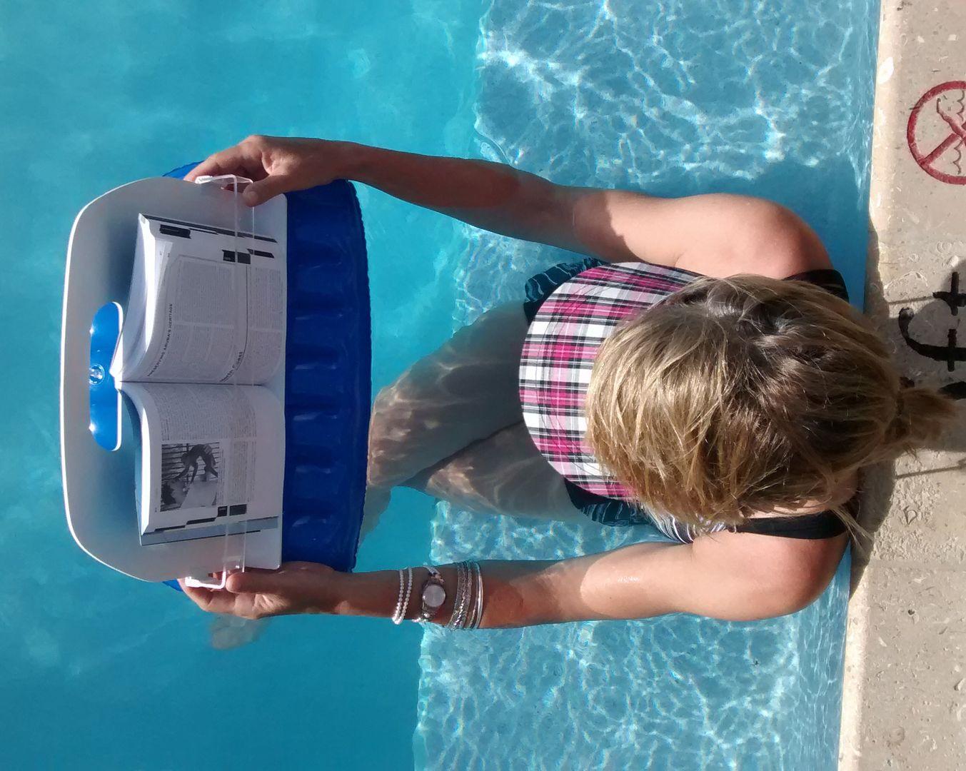 Aquareader bath pool and hot tub reading caddy book