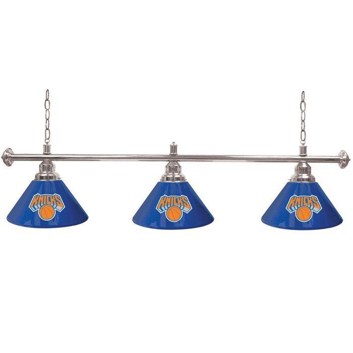 Trademark Commerce NBA4800-NY New York Knicks NBA 3 Shade Billiard Lamp - 60 inches