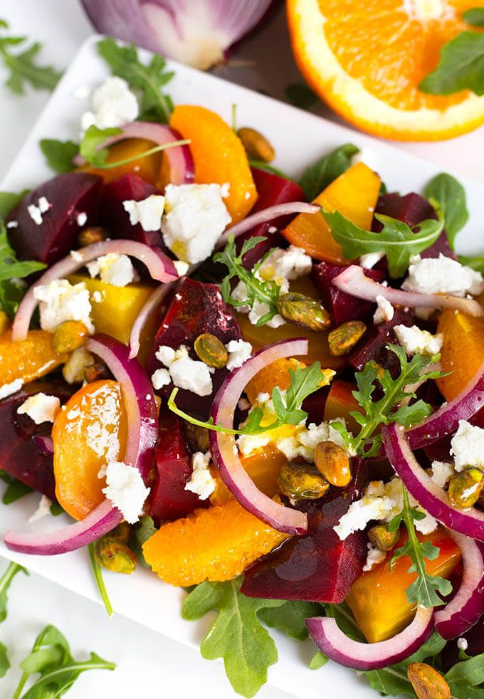Beet Salad with Goat Cheese and Orange Vinaigrette