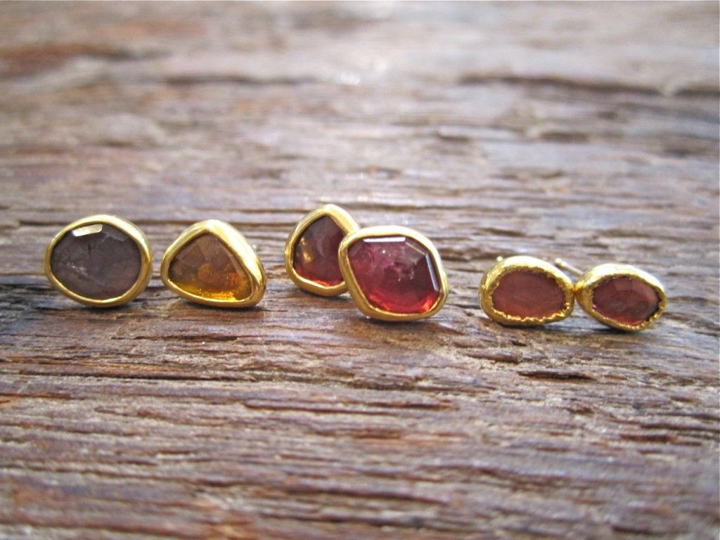 Mismatched Tourmaline Stud Earrings Loveadorned Nyc