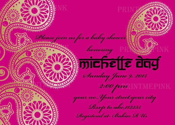 Indian Style Birthday Invitation And Thank You Card Printable Colorful Invitations Indian Invitations Bollywood Party