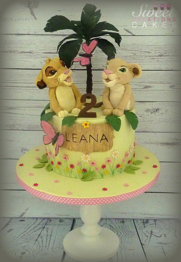 Simba And Nala Lion King Birthday Cake Cake By Sweet