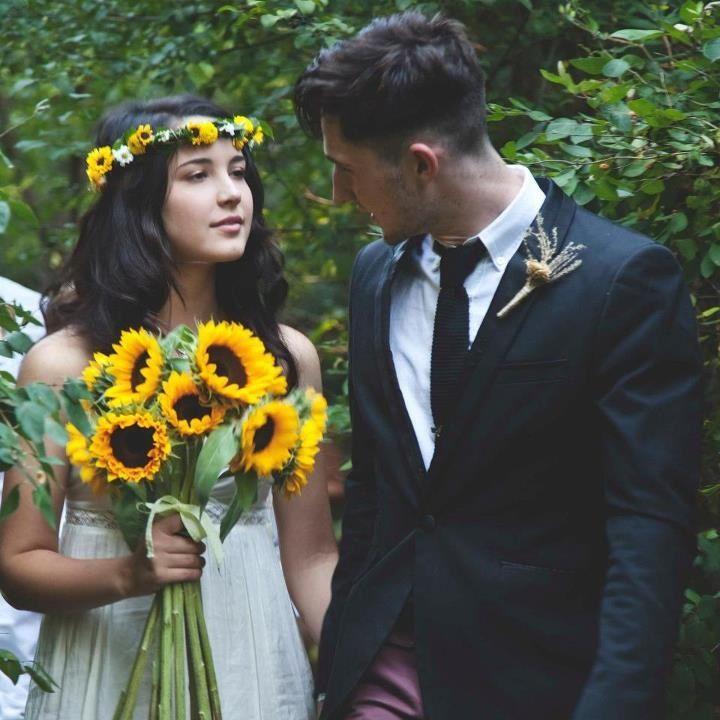 Wedding vintage sunflower dress adorable love cousins for Sunflower dresses for wedding