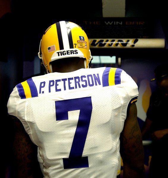 Patrick Peterson Likes Blue And Yellow Too Lol Lsu Tigers Football Lsu Football Lsu Babies