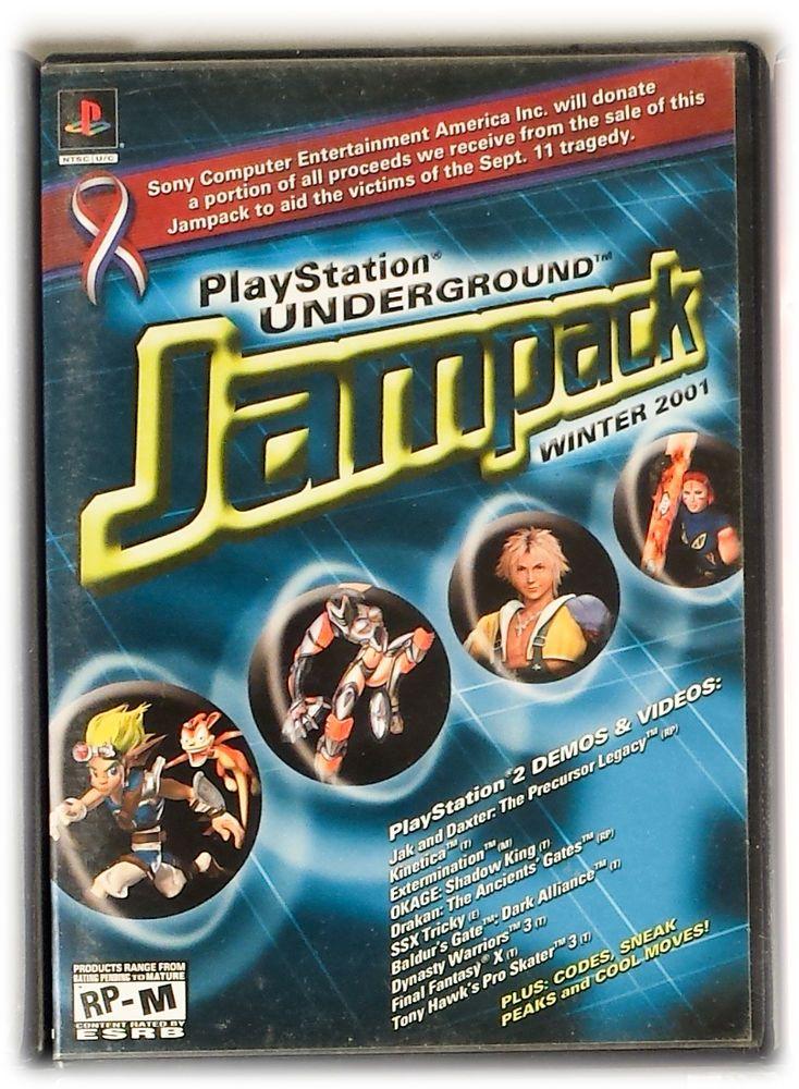 Winter 2001 Jampack Demo Disc PlayStation Underground PS2