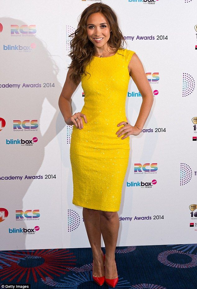 dc5e058dbd68 All things bright and beautiful: Myleene wore a stunning yellow dress which  shimmered as she moved