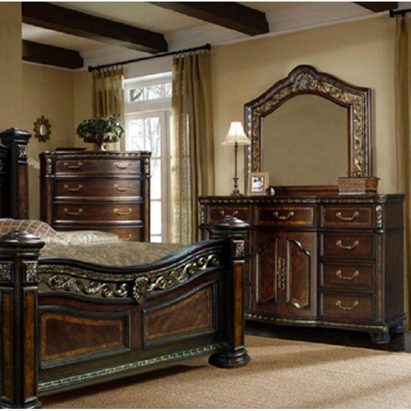 Henegar 9 Drawer Combo Dresser In 2021 King Bedroom Sets Remodel Bedroom Beautiful Furniture