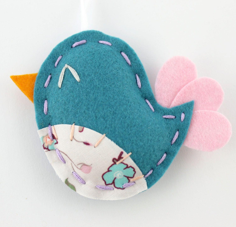 PDF Pattern Felt Bird Softie Ornaments Mini 3 Ways Brooch Pin DIY ...