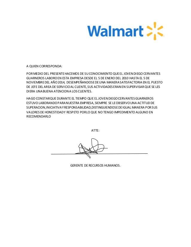 Carta De Recomendacion Laboral  Linda
