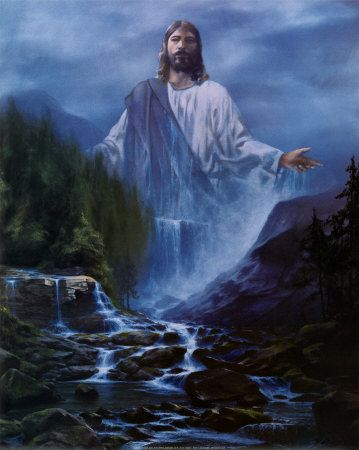 JESUS CHrist the water of life photos | Beautiful painting of the Water of Life from the internet