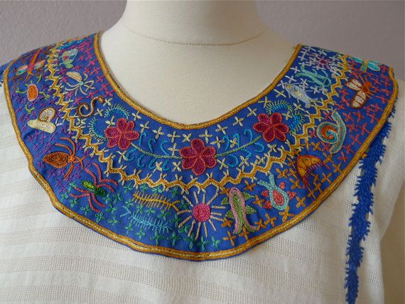 Collectors Mexican huipil Tunic Oaxacan by LivingTextiles on Etsy ...