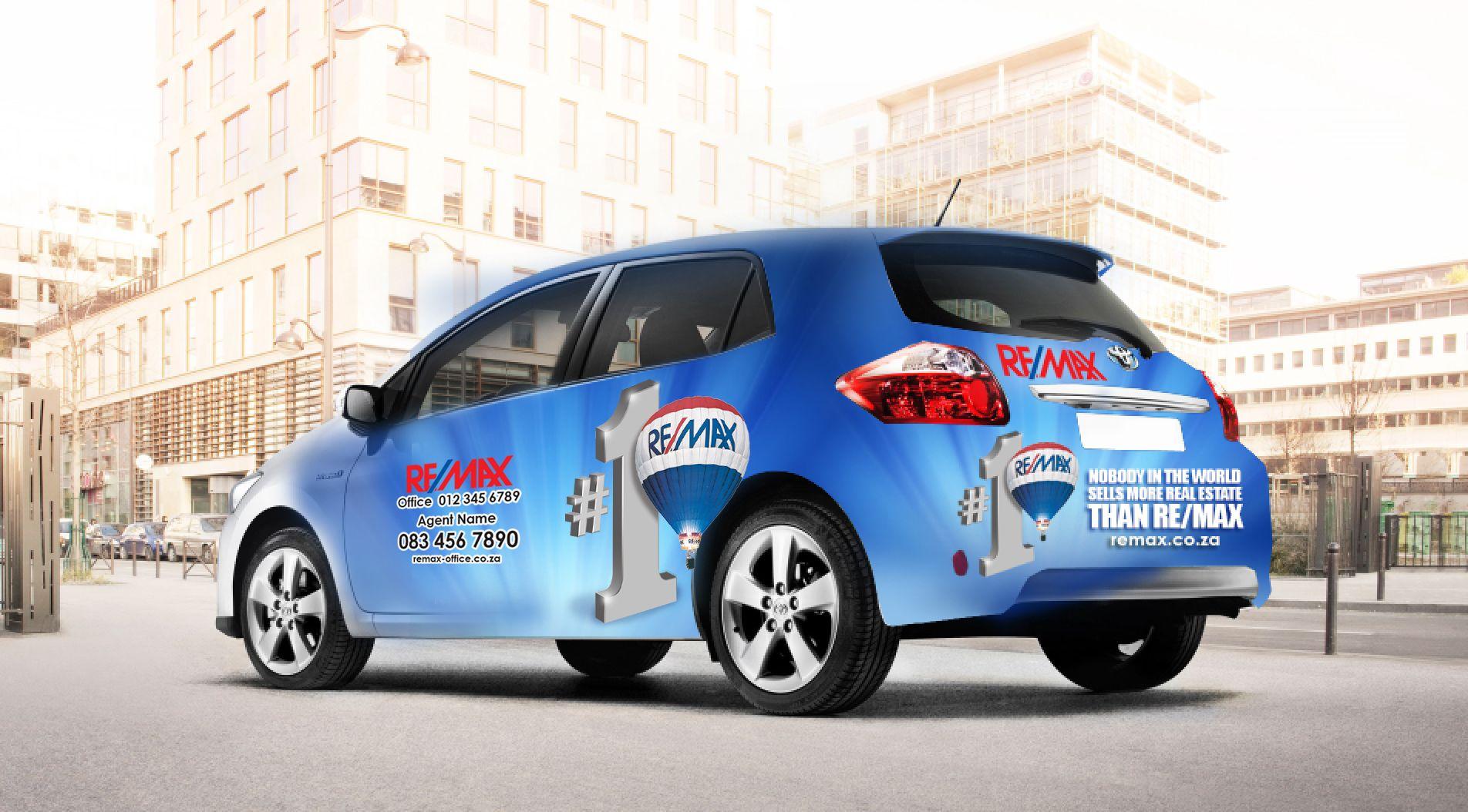 Full Vehicle Wrap Design Using Re Max No 1 Campaign Car Wrap Design Remax Car Wrap